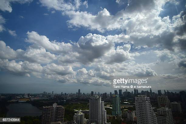 Blue sky and clouds in Bangkok