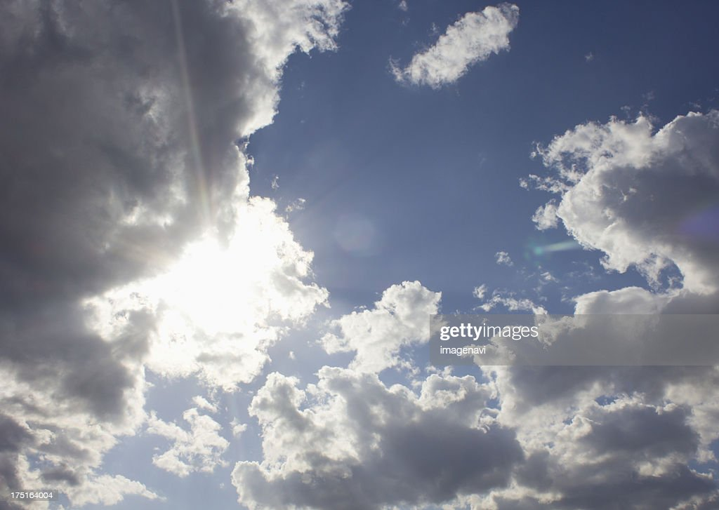 Blue sky and clouds : Stock Photo