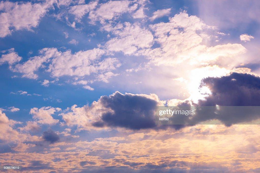Cielo blu e nuvole sfondo naturale : Foto stock
