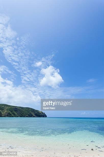 Blue sky and idyllic tropical beach of Kerama Islands National Park