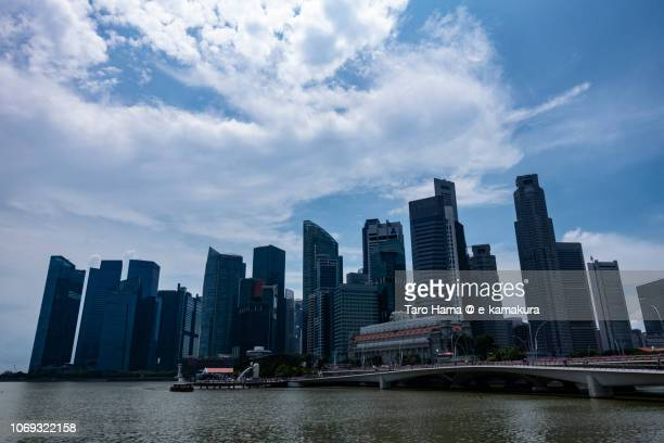 Blue sky and office buildings in Marina Bay in Singapore