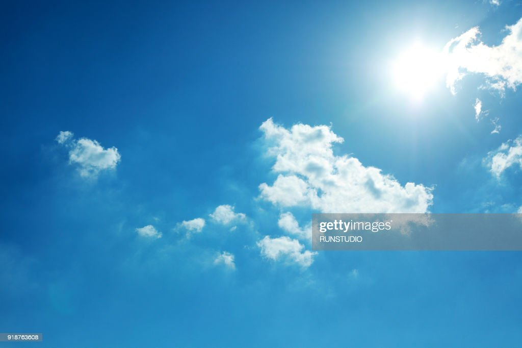 Blue Sky and Sun : Foto de stock