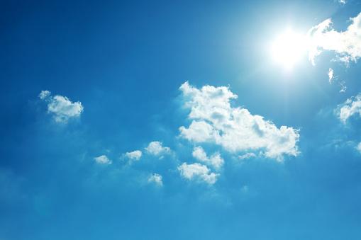 Blue Sky and Sun - gettyimageskorea