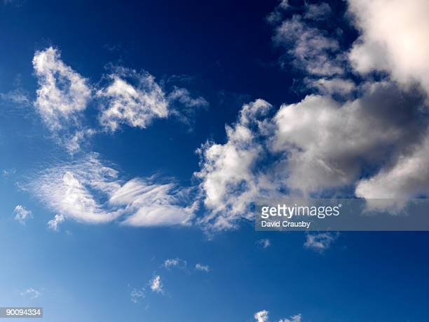 blue sky  and white clouds - crausby stock pictures, royalty-free photos & images
