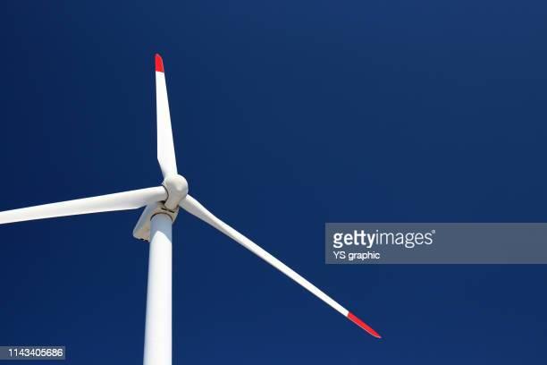 blue sky and windmill - 風力発電 ストックフォトと画像