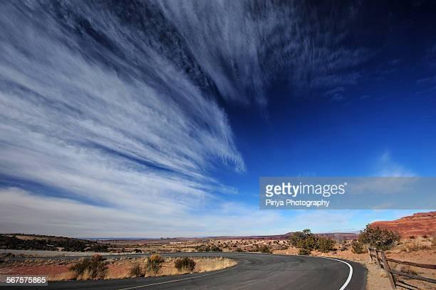 Blue sky in southwest