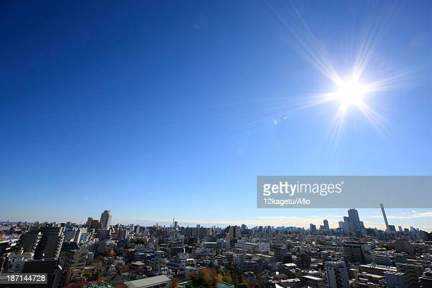 Blue sky in Tokyo