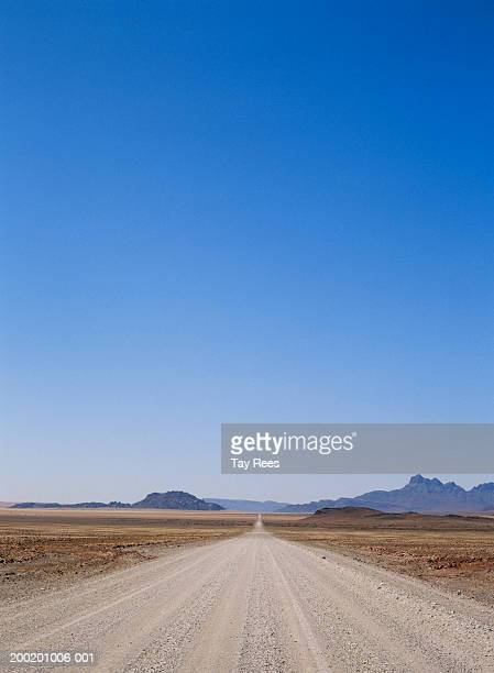 Blue sky over arid landscape