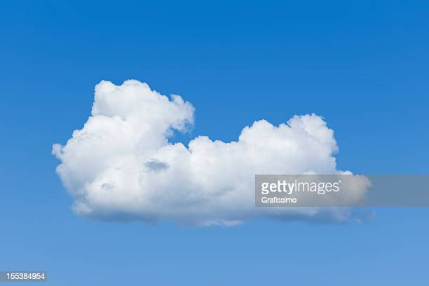 Blue sky over lonely big white cumulus cloud