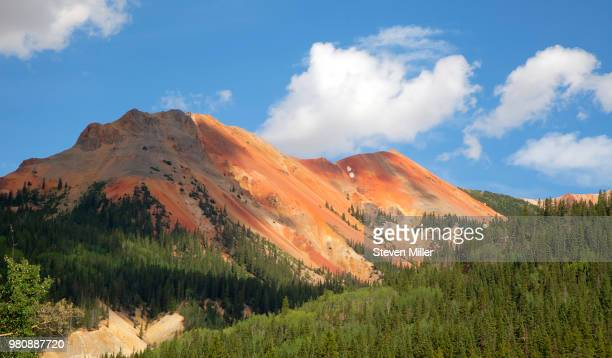 Blue sky over Red Mountain, Ouray, Colorado, USA