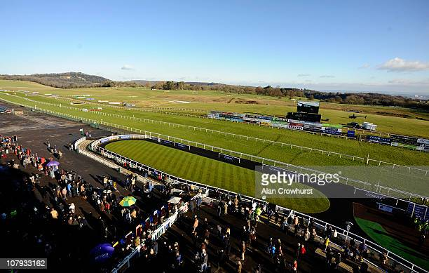 Blue sky over the course at Chepstow racecourse on January 08 2011 in Chepstow Wales