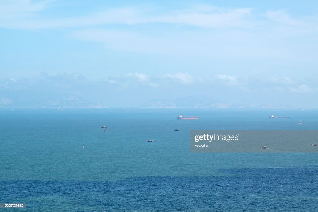 Blue sky over the ocean : Foto stock