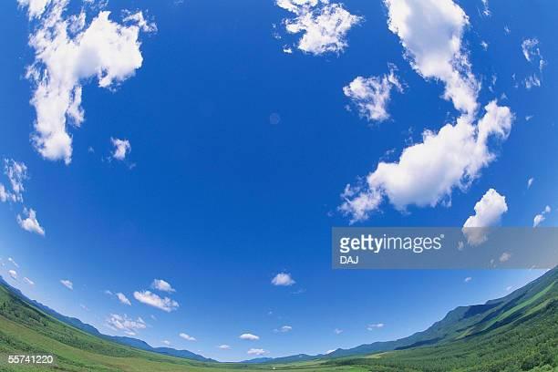 blue sky - 魚眼撮影 ストックフォトと画像