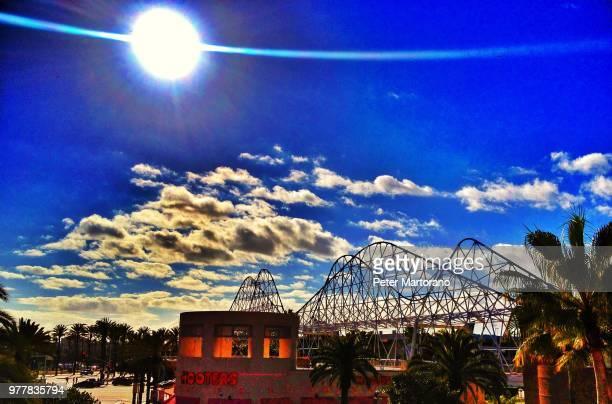 blue sky - stadio olimpico nazionale foto e immagini stock