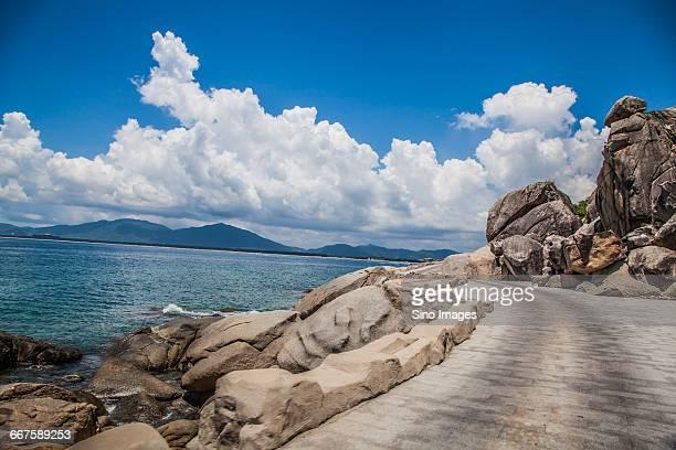 Blue Sky Sea and Road