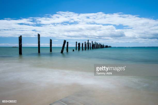 blue sky with cloud in tasmania's beautiful north east coast near launceston - launceston australia imagens e fotografias de stock