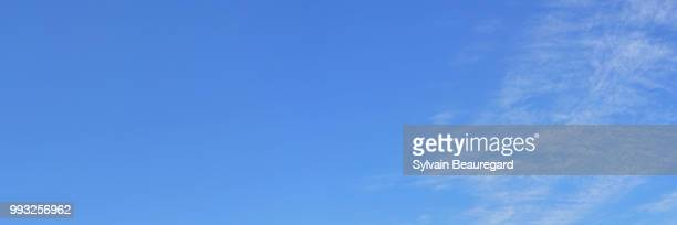 blue sky with clouds 3:1 - sky only stock pictures, royalty-free photos & images