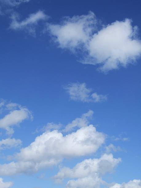 Blue sky with clouds and copy space