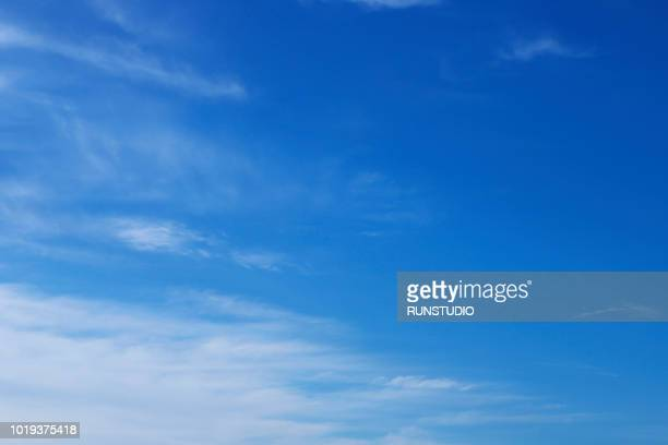 blue sky with clouds - sky only stock pictures, royalty-free photos & images