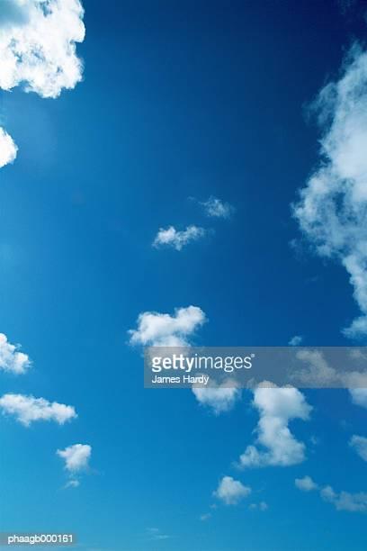 blue sky with clouds - 縦位置 ストックフォトと画像