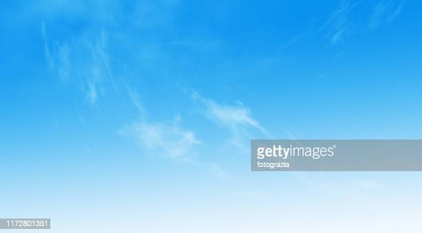 blue sky with delicate clouds - 空 ストックフォトと画像