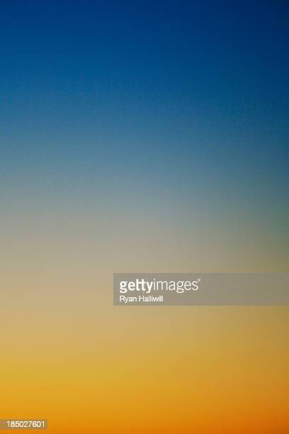 Blue Sky With Yellow Sunset