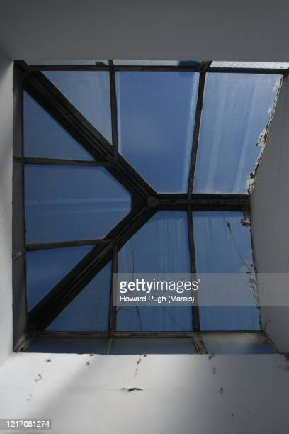 blue skylight design - howard pugh stock pictures, royalty-free photos & images