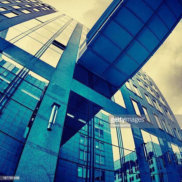 Blue skyscraper - HDR