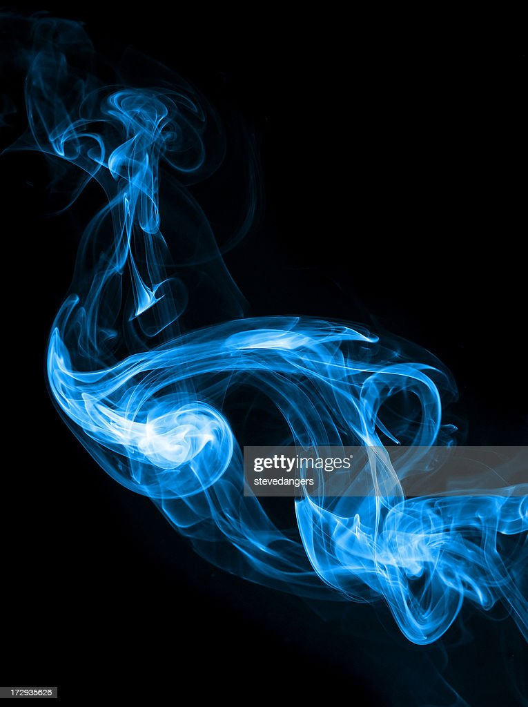 Fumo blu : Foto stock