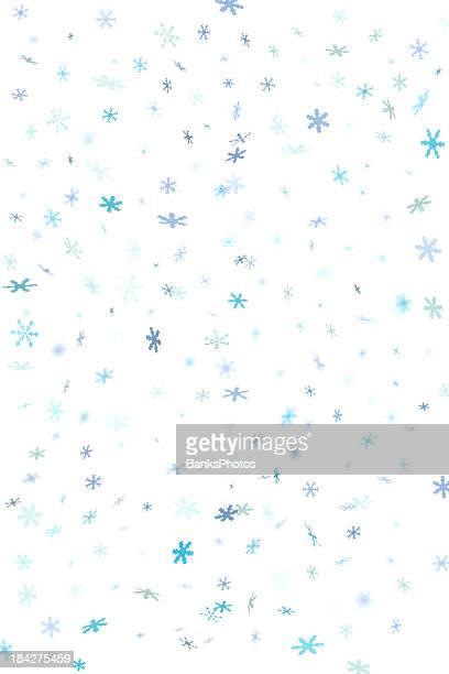 Blue Snowflake Confetti Background 2