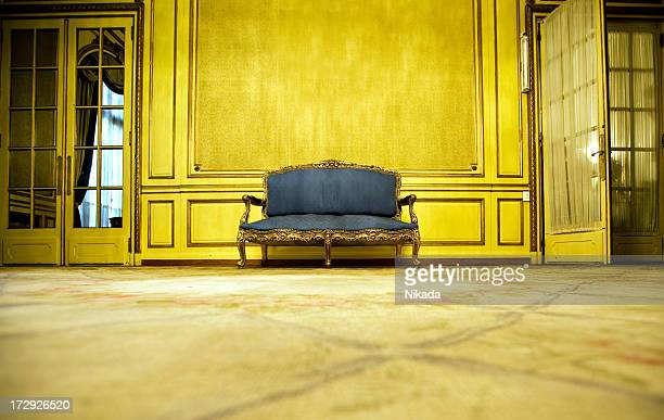 blue sofa - classical style stock pictures, royalty-free photos & images