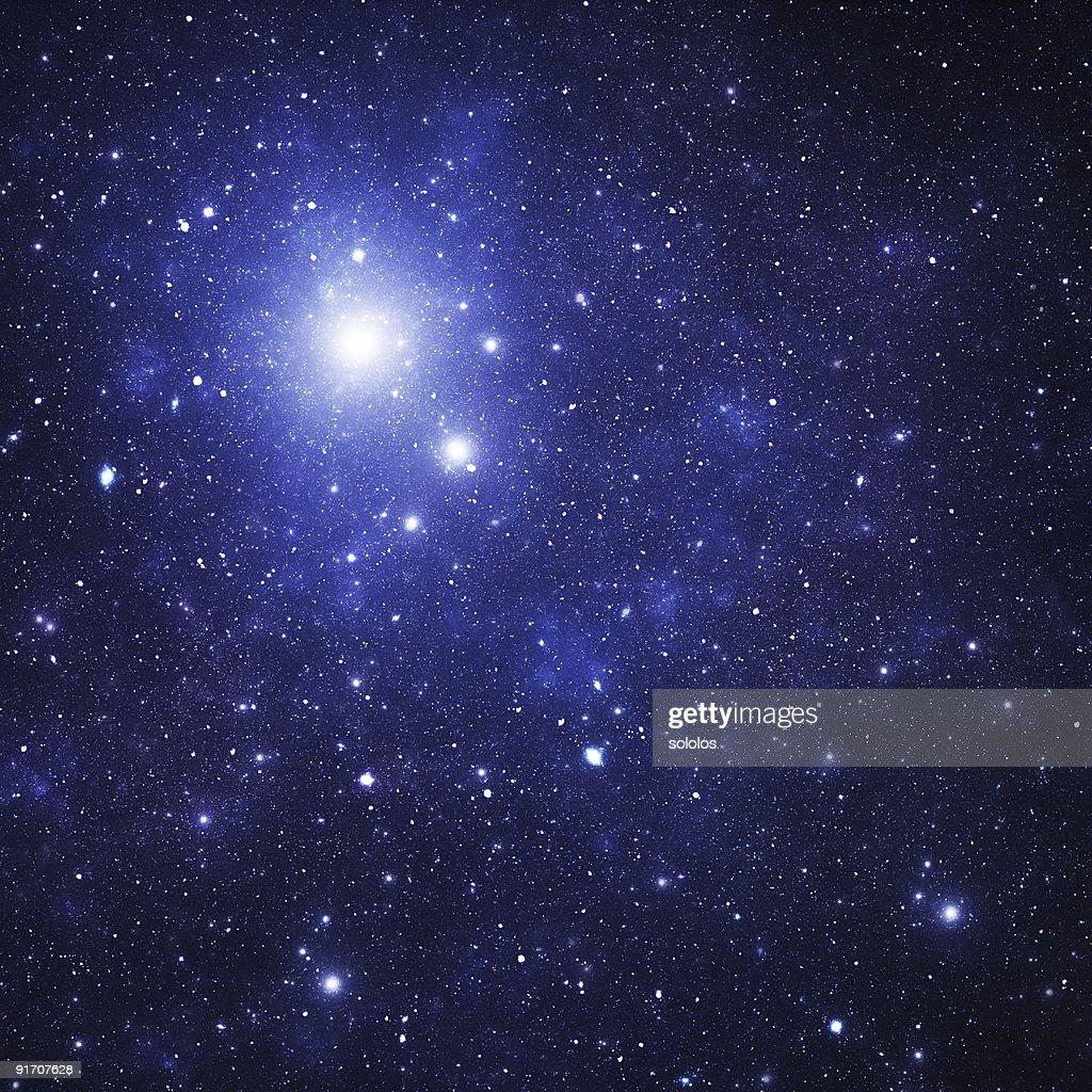 Blue space nebula : Stock Photo