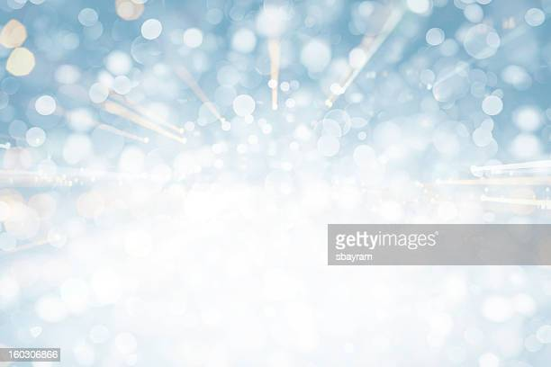 blue sparkles - snowflake background stock photos and pictures