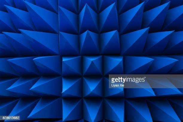 blue spikes pattern - sensor stock pictures, royalty-free photos & images