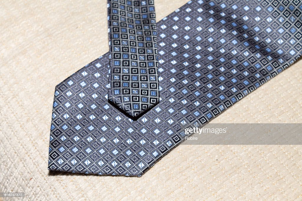 Blue Square Tie : Stock-Foto