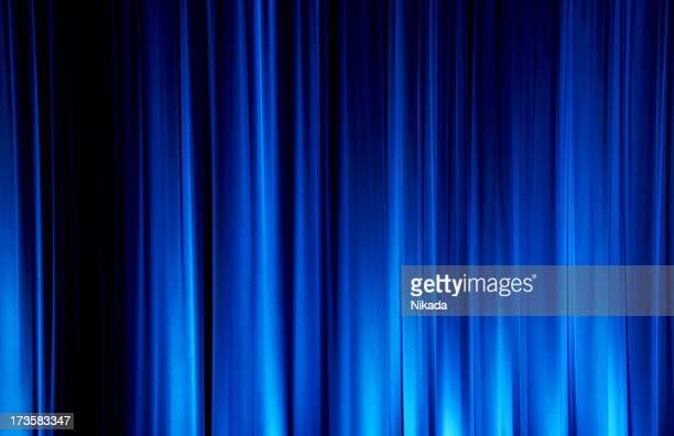 Bleu Rideau de scène