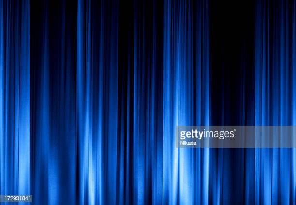 Blue Stage Curtain XXL