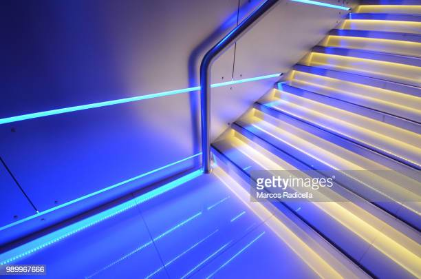 blue stairs - radicella stock photos and pictures