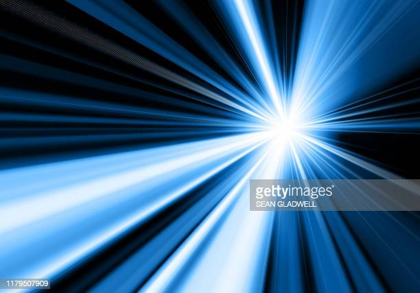 blue starburst illustration - tunnel stock pictures, royalty-free photos & images