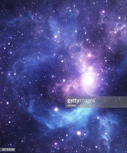 blue starfield background - nebula stock pictures, royalty-free photos & images