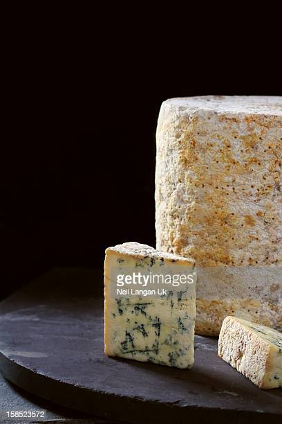 Blue Stilton, Whole Round & Sliced