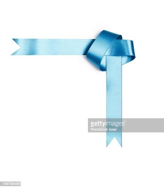 Blue streamer ribbon