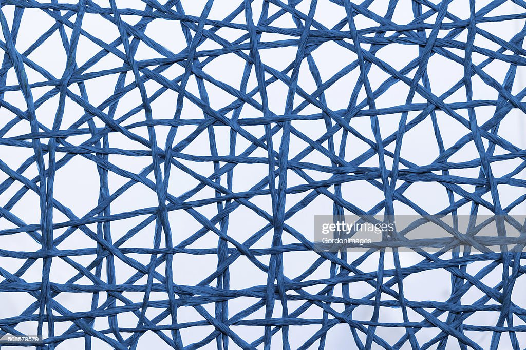 Blue String Web : Stockfoto