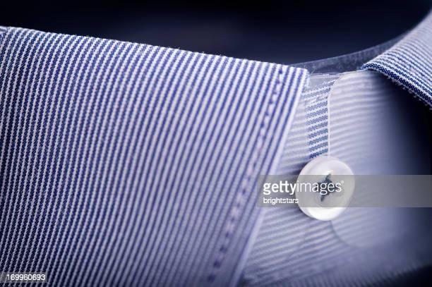 collo a camicia a righe blu - camicia foto e immagini stock