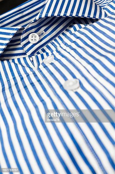 Blue striped shirt