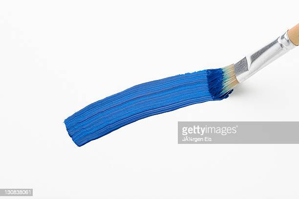 A blue stroke of the brush