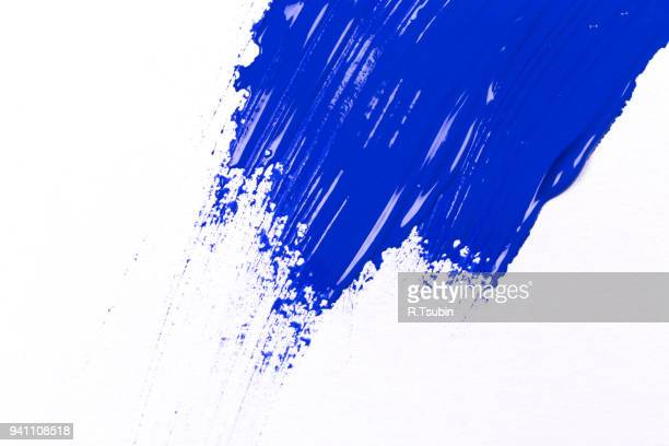 blue stroke of the paint