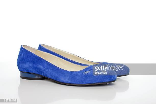 blue suede women's shoes with heels - purple shoe stock pictures, royalty-free photos & images