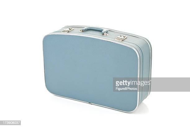 Blue Suitcase isolated on white