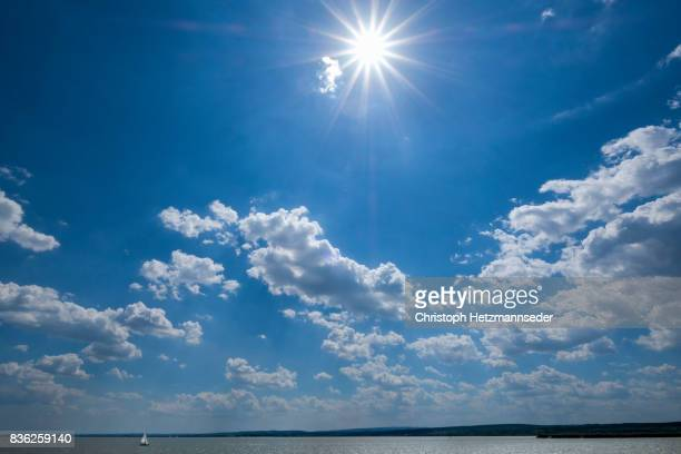 blue summer sky - sunny stock pictures, royalty-free photos & images